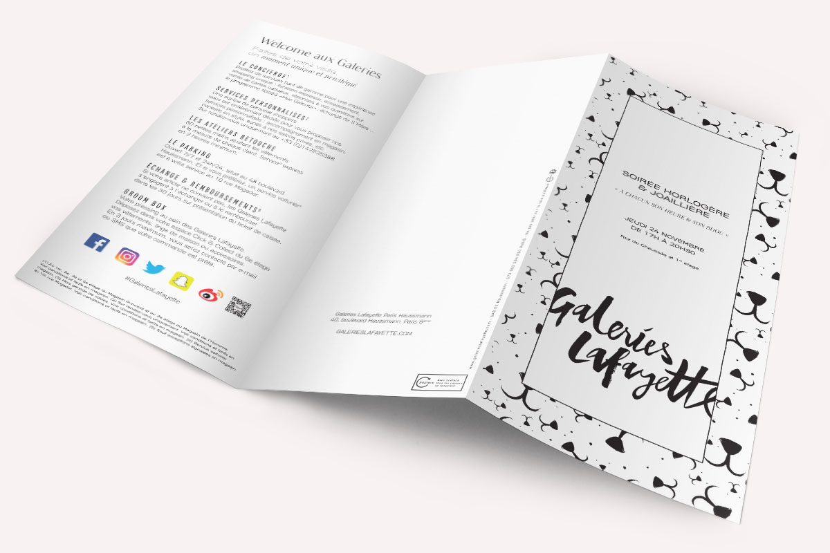 Design et Branding - Graphisme - Print - Flyer - Galeries Lafayette